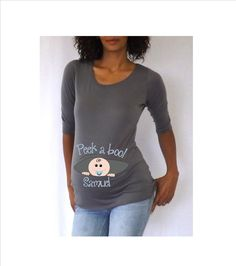 Maternity  personalized Peek a Boo Shirt/Tee by DJammarMaternity, $28.00