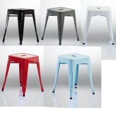 1x-Hocker-Metall-Sitzhocker-Iron-chair-Tabouret-en-metal-French-STYLE