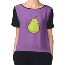 'Fruit Collection - Pear' Chiffon Top by manfex Indie Art, Chiffon Tops, Fitness Models, Fruit, Fabric, Sleeves, How To Wear, Stuff To Buy, Collection