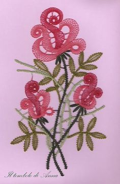 Anna's lace: rose rosse
