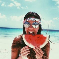 We ate lots of watermelon at the beach Summer Goals, Summer Of Love, Summer Beach, Summer Fun, Summer Feeling, Summer Vibes, I Need Vitamin Sea, Photos Originales, Look Girl