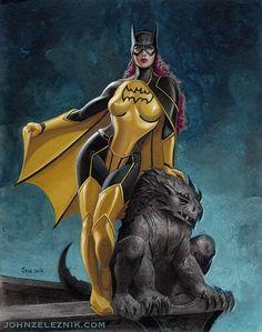 Batgirl & Gargoyle by John Zeleznik Comic Book Characters, Comic Character, Comic Books Art, Comic Art, Batman And Batgirl, Batman Comics, Dc Comics Art, Comics Girls, Cosplay Dc