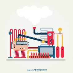 Industrial Machine Free Vector