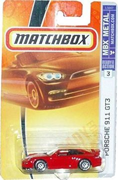 Mattel Matchbox 2007 MBX Metal 1:64 Scale Die Cast Car # 3 - Red Sport Coupe Porsche 911 GT3
