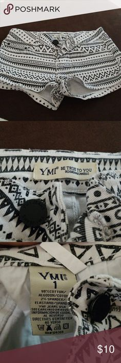 ymi tribal shorts size 1 super cute brand new black and white tribal style jeans shorts size 1 YMI Shorts Jean Shorts