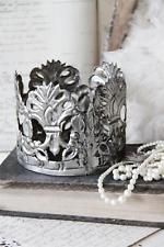 French Santos Caged Doll Crown Tiara Reproduction Antique Silver
