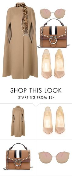 """Nude"" by cecycecy-cccxx on Polyvore featuring Agnona, Christian Louboutin and Yves Saint Laurent #christianlouboutinlipstick"