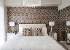 Decorando quartos pequenos // Papel de parede