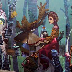 Magic woods by @artez_online in Belgrade - http://globalstreetart.com/artezonline #globalstreetart