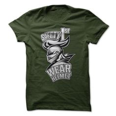 Safety First Wear Helmet T Shirts, Hoodie. Shopping Online Now ==► https://www.sunfrog.com/Automotive/Safety-First-Wear-Helmet.html?41382