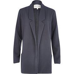 Grey jersey twill blazer - blazers - coats / jackets - women