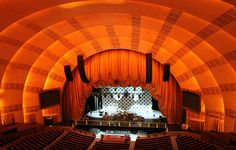 no audience Stage Curtains, Radio City Music Hall, Theatres, New York City, Seafood, Nyc, Explore, World, Places