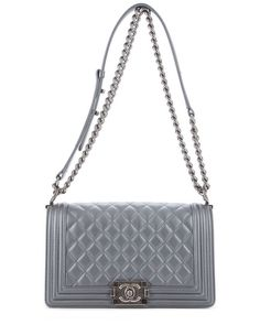 Chanel Grey Lambskin Medium Boy Tote is on Rue. Shop it now.
