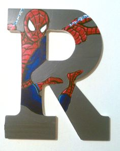 Marvel Superheros  9 Hand Painted Wooden Letters by ArtsyNani, $12.00