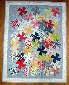 Sweetwater Twister quilt - in charm square size