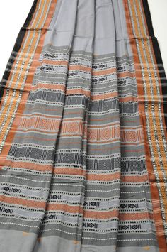 Siminoi Tribal Sari Grey Cocoa Orissa Tribal [simigreycoco] - $124.00 : Sari Shop Sari Saree Online, Life is Short Wear a Sari
