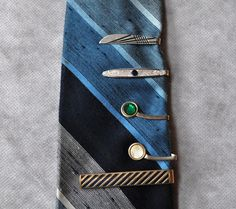 Mens Vintage Jewelry Tie Bars Tie Clips by ArmorOfModernMen, $14.25 #FathersDaygift #MadMenstylefashion #mensjewelry