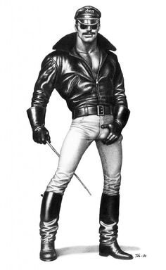 Leather on HOT men; Is'nt TOM where it all started?