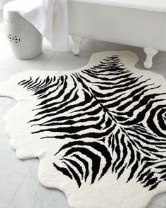 """Kenya"" Bath Rug at Horchow."