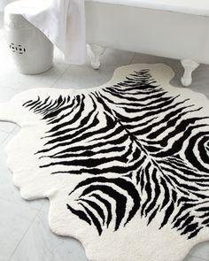 zebra bath rug | Horchow