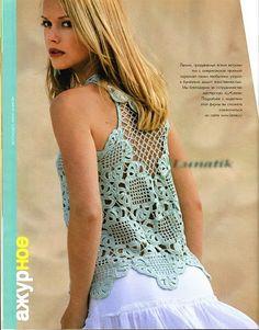 Receitas de Crochet: Blusa rendada verão