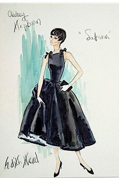 movie costume sketches | The Sketch Artist: 18 Classic Film Costume Designs by Edith Head ...