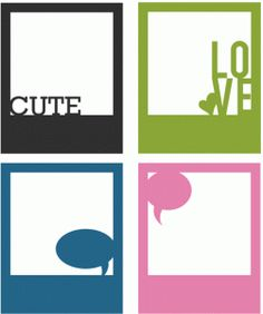 Silhouette Design Store - View Design #65554: quote bubbles polaroid frame set of 4