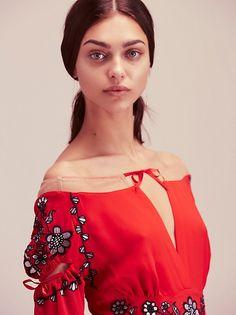 Zhenya Katava || FP Niccola Mini Dress (Red Floral)