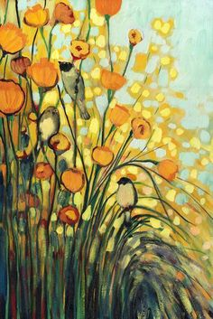 """In the Meadow"" by Jennifer Lommers.  See more gorgeous abstract art at www.imagekind.com!"