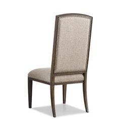 Hooker Furniture Rhapsody Insignia Side Chair in Rustic Walnut