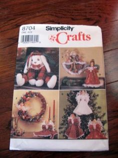 Simplicity Pattern 8704 Christmas Craft  6 different items by alwaysdaddysgirl for $0.00