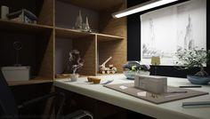 Office & Workspace:Designer Desks For Home Office Cool Workspaces Design With Artistic Creativity Cool Workspaces Creative Home Workspace Id...