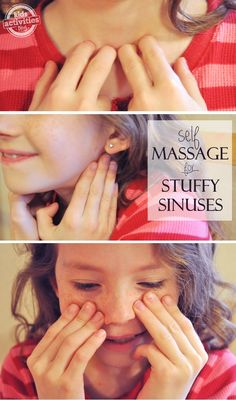 Natural Remedies For Chest Congestion This massage technique actually gets rid of a stuffy nose. it'll come back, but at least you can breathe for a few min! - Coalition of Mavens - Find your maven Baby Massage, Massage Tips, Self Massage, Massage Therapy, Sinus Massage, Massage Meme, Sinus Congestion Relief, Chest Congestion Remedies, Natural Remedies For Congestion