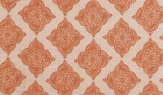 Duralee Fabrics    John Robshaw Designer Collection  Madder - Coral