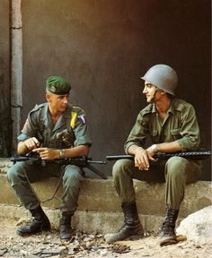 French; Legionnaire and Lebanese soldier - Beirut 1982