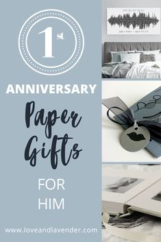 Congratulations on your 1st wedding anniversary! Give your husband the perfect paper gift to celebrate!