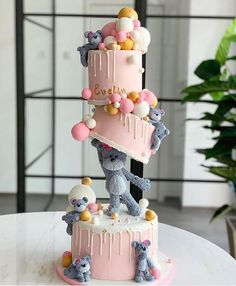 A birthday party is a special occasion to everybody celebrate every year.A special birthday cake is a must. What birthday cake ideas you should try, then? Creative Birthday Cakes, Special Birthday Cakes, Baby Birthday Cakes, Beautiful Birthday Cakes, Creative Cakes, Bear Birthday, Birthday Celebration, Celebration Cakes, Girl Birthday