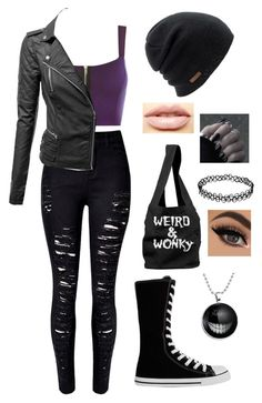 """""""Untitled #797"""" by delioria ❤ liked on Polyvore featuring WearAll, WithChic, Coal and LASplash"""