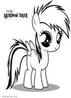 Раскраска Радуга Дэш. Моя мальенькая пони