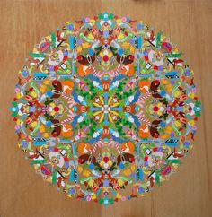 Mrs. Grossman's Sticker Mandala by laurenvenell #Mandala #Stickers