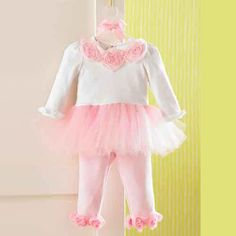 Mud Pie Pink Tutu Legging Set. Two piece tutu set with white top, pink tulle skirt, and pink legging for little girls. See More Tutus And Pettiskirts at http://www.ourgreatshop.com/Tutus-And-Pettiskirts-C209.aspx Mud Pie at In Fashion Kids