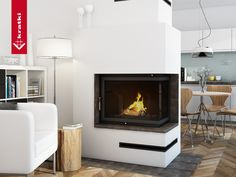 Fireplace AMELIA 25 kW prawy type BS #kratkipl #kratki #fireplace #insert #interior #livingroom