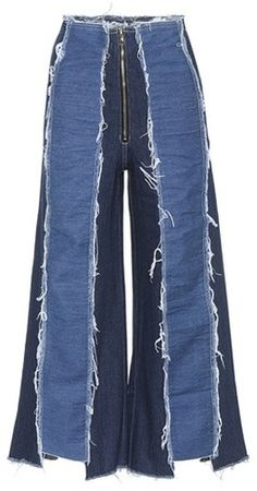 Shop Bella panelled wide-leg jeans presented at one of the world's leading online stores for luxury fashion. Jeans Denim, Old Jeans, Denim Flares, Wide Leg Jeans, Black Jeans, Ropa Upcycling, Denim Fashion, Fashion Outfits, Fashion Clothes