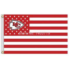 Kansas City Chiefs Stars and Stripes NFL Flag 3ft x 5ft Polyester