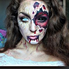 33 Totally Creepy Makeup Looks To Try This Halloween 萬聖鬼節彩妝 ...