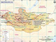 Mongolia - mapa turystyczna