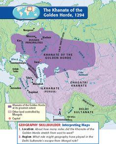 The Khanate of the Golden Horde, 1294