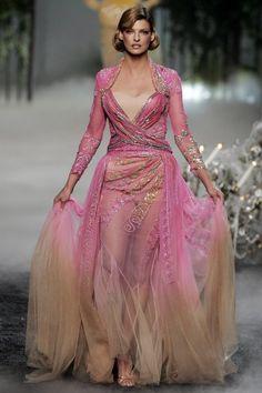 Linda Evangelista at Christian Dior Haute Couture Fall 2005