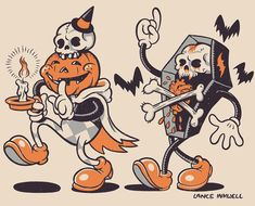 clubhaunt It's the - Time to 🎃☠️ Art by Lance Inkwell check home out . Halloween Cartoons, Retro Halloween, Halloween Horror, Fall Halloween, Halloween Artwork, Halloween Drawings, Halloween Prints, Vintage Cartoon, Cartoon Art