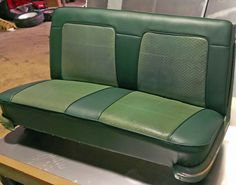 This is a Holden EK seat with the original insert panels retained.